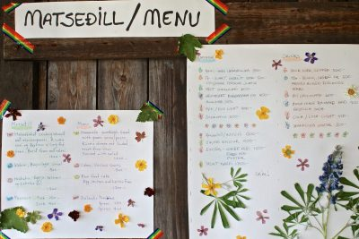 Menu in a farm restaurant – Gourmet Golden Circle, Magical Iceland
