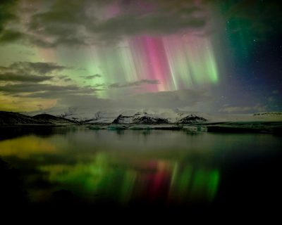 Glacier Lagoon northern lights, a.k.a. Aurora Borealis – Magical Iceland